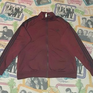 Adidas Maroon Black Track Jacket Running Fitness